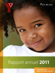 Rapport annuel 2011 - Ymcaywca.ca