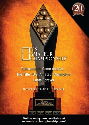 to read the 2013 Brochure! - The US Amateur Championship