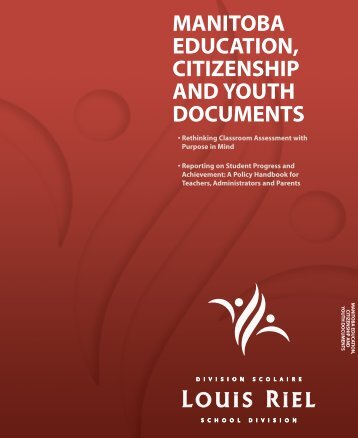 MANITOBA EDUCATION, CITIZENSHIP AND YOUTH DOCUMENTS