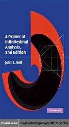 Bell J.L. A primer of infinitesimal analysis (2ed., CUP, 2008)(ISBN 0521887186)(O)(138s)_MCat_