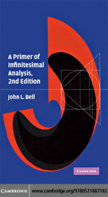 Bell J.L. A primer of infinitesimal analysis (2ed., CUP, 2008)(ISBN 0521887186)(O)(138s)_MCat_