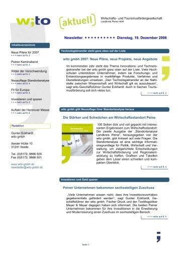 2006-12-18Newsletter 4 - Wirtschafts- und ...