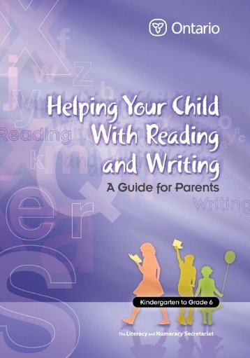 Helping Your Child With Reading and Writing: A Guide for Parents