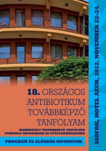 18.Országos Antibiotikum - Magyar Infektológiai és Klinikai ...