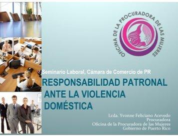 responsabilidad patronal ante la violencia doméstica - Cámara de ...