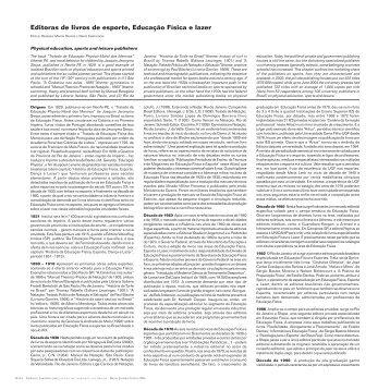 Editoras de livros de esporte, Educação Física e lazer - Atlas do ...