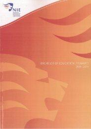 PROGRAMME - NIE Digital Repository - National Institute of Education