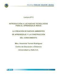 Lectura Nº 8 INTRODUCCIÓN A LAS NUEVAS TECNOLOGÍAS ...