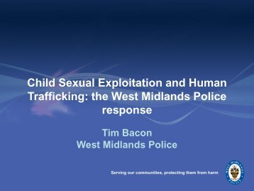 Child Sexual Exploitation and Human Trafficking: the West Midlands ...