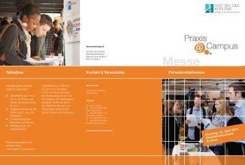 Teilnahme Kontakt & Veranstalter Firmenkontaktmesse