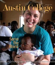 HONOR ROLL OF DONORS | BALANI AWARDED ... - Austin College