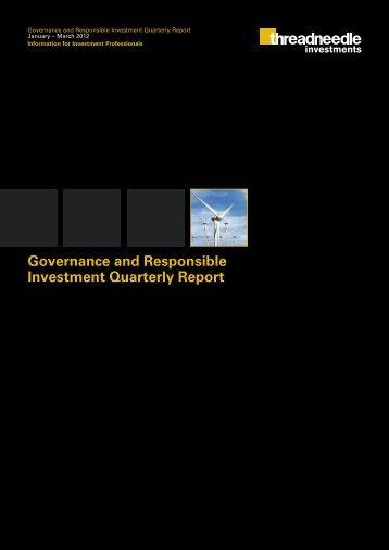 Q1 2012 GRI Report - Threadneedle Investments