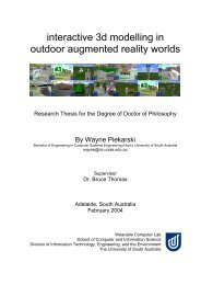 interactive 3d modelling in outdoor augmented reality worlds