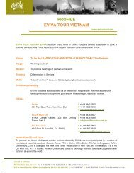 PROFILE EVIVA TOUR VIETNAM - World  Travel Market