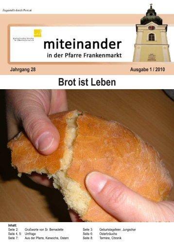 Ausgabe: 1 / 2010 - Pfarre Frankenmarkt