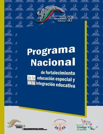 Programa Nacional de Fortalecimiento - Educación Especial