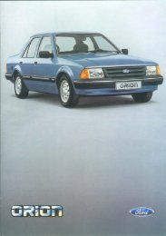 Page 1 Page 2 Abb. Titelseite: Ford Orion L, Intensiv ...
