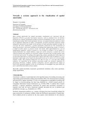 Towards a systems approach to the visualization of spatial uncertainty