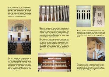 Info-Flyer - Jugendstil-Kirchsaal Nordend