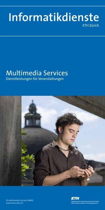 Dienstleistungen für Veranstaltungen - ETH Zürich