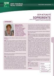 Soprorente - 2ème trimestre 2011 - BNP Paribas REIM