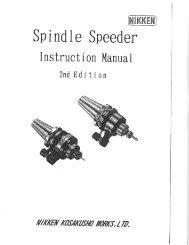 Spindle Speeder Instructions - Lyndex-Nikken