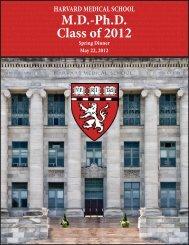 MD-Ph.D. Class of 2012 - Harvard Medical School - Harvard University