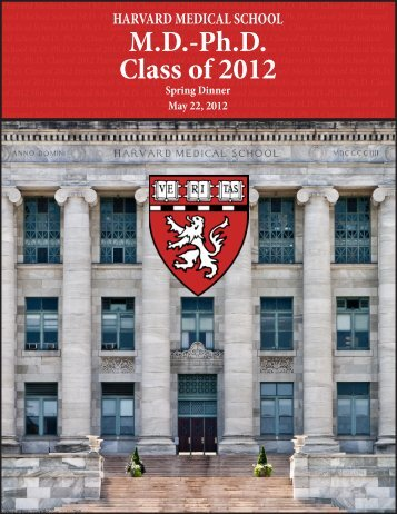 MD-Ph.D. Class of 2012 - Harvard Medical School - Harvard University