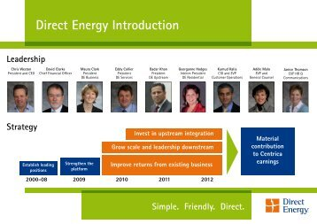 Capital Markets Day Direct Energy 2010 - Download PDF - Centrica