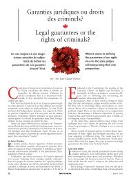 Legal guarantees or the rights of criminals?