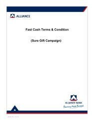 Fast Cash Terms & Condition - Alliance Bank Malaysia Berhad
