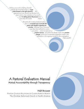 Pastor Evaluation Form PdfPdf  Capitol Hill Presbyterian