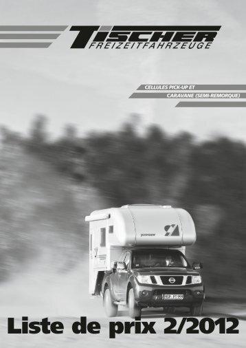 Prix & poids - Tischer Freizeitfahrzeuge