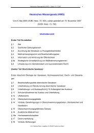 Hessisches Wassergesetz (HWG)