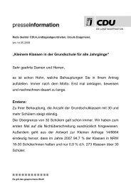 Rede zum Antrag B90/Die Grünen: