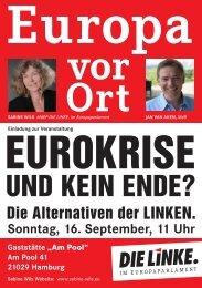 Flyer zur Veranstaltung - Jan van Aken