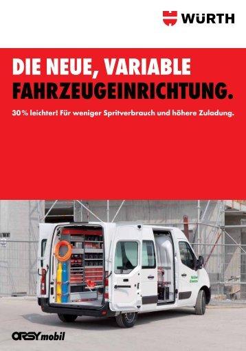 DIE NEUE, VARIABLE FAhRzEUgEINRIchtUNg. - Adolf Würth ...