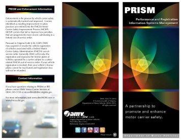 PRISM Brochure - Virginia Department of Motor Vehicles ...