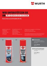 Karosserie-Produkte - Adolf Würth GmbH & Co. KG