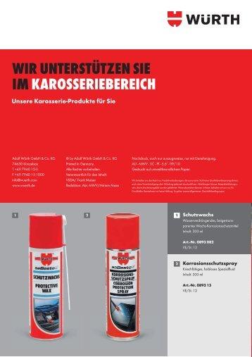 Karosserie-Produkte - Adolf Würth GmbH & Co. KG