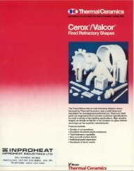 Cerox / Valcor Fired Refractory Shapes - Inproheat