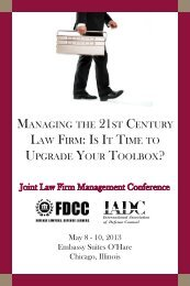 Joint Law Firm Management Conference - International Association ...