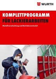 Vorbereitung für Lackierarbeiten - Adolf Würth GmbH & Co. KG