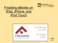 Overdrive eBooks on iPad, iPhone, iPod Touch and Android Devices
