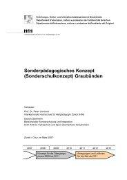 Sonderpädagogisches Konzept (Sonderschulkonzept ... - HfH