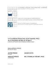 vysoké učení technické v brně vytvoření řídicího software pro ...