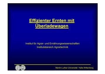 Effizienter Ernten mit Überladewagen - LLFG