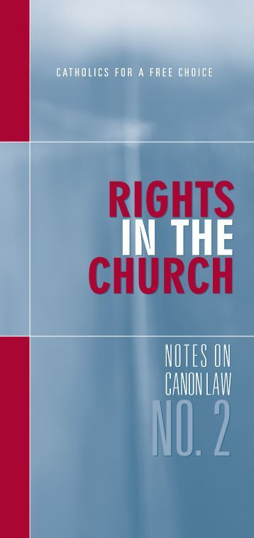 Rights in the Church - Catholics for Choice