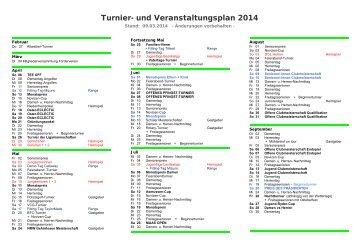 Turnier- und Veranstaltungsplan 2013 - Golfclub am Kloster Kamp