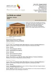 La Sicile au volant - Arts et Vie